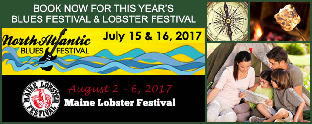 Come to Camden Hills Campground and attend the North Atlantic Blues Festival and the Maine Lobster Festival