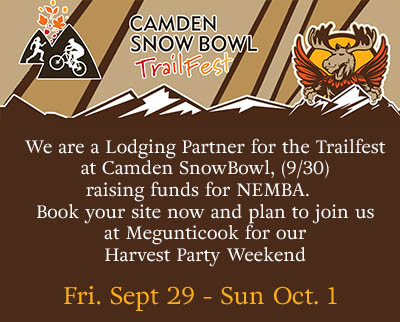 Camden Snow Bowl Trailfest 2018 - Join us for our Harvest Party from Sep 29 - Oct 1